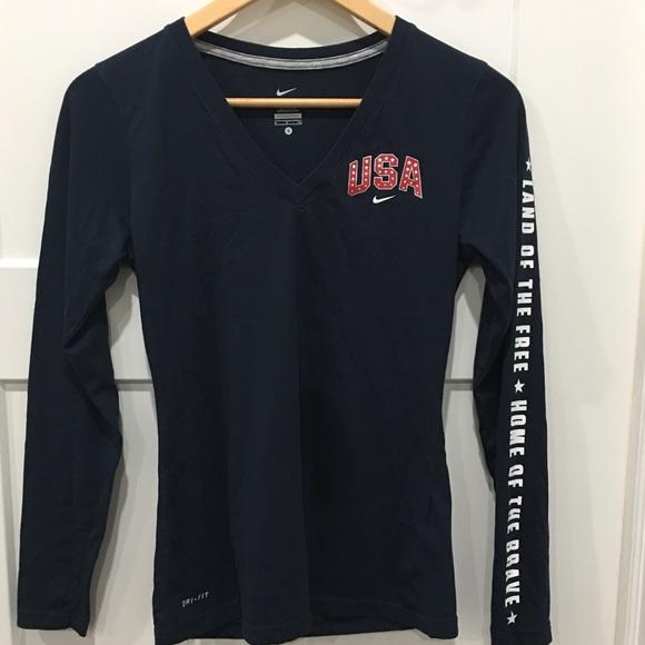 9dc79107 Nike Dri Fit team USA Long Sleeve Size Small. M_5bdfca00a5d7c690b2cf403d